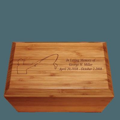 Golfer Bamboo Essence Cremation Urn