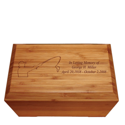 Bowling Pins Bamboo Distinction Green Cremation Urn
