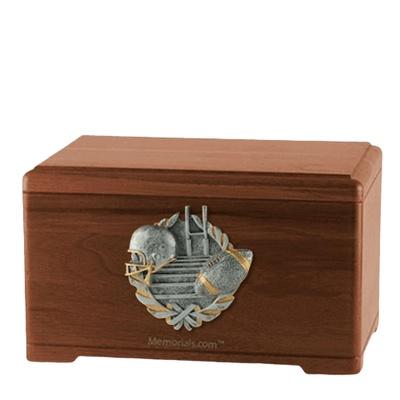 Touchdown Fan Walnut Cremation Urn