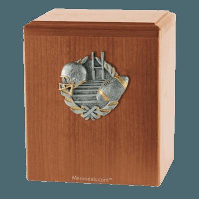 Touchdown Light Cherry Cremation Urn
