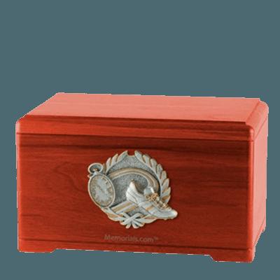 Track Fan Cherry Cremation Urn