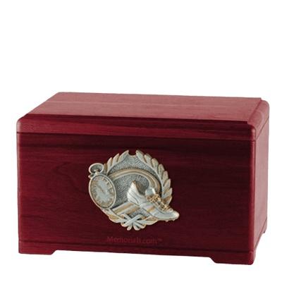 Track Fan Rosewood Cremation Urn