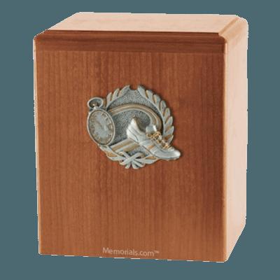 Track Light Cherry Cremation Urn