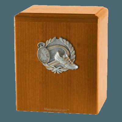 Track Oak Cremation Urn