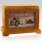 Tractor & Moon Mahogany Hampton Cremation Urn