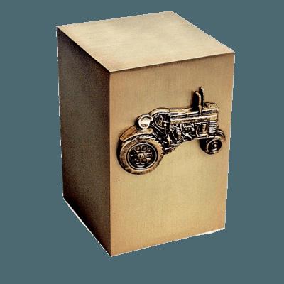 Tractor Bronze Cremation Urn