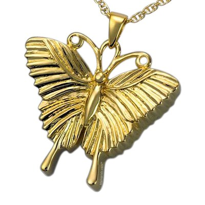 Traditional Butterfly Cremation Pendant IV