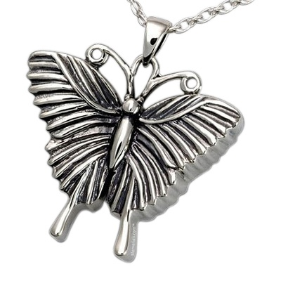 Traditional Butterfly Cremation Pendant III