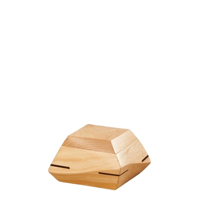 Trapezium Pine Wood Keepsake Urn