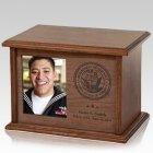 Tribute Wood Military Urn