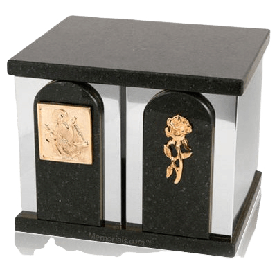 Trinity Silver Cambrian Black Granite Companion Urn