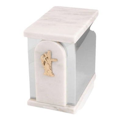 Trinity Silver White Danby Marble Urn