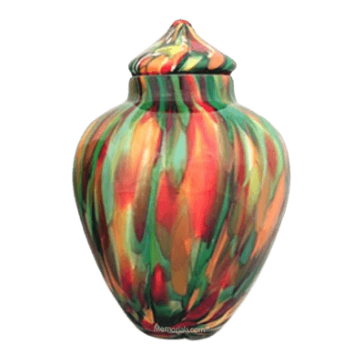 Tropical Glass Cremation Urn