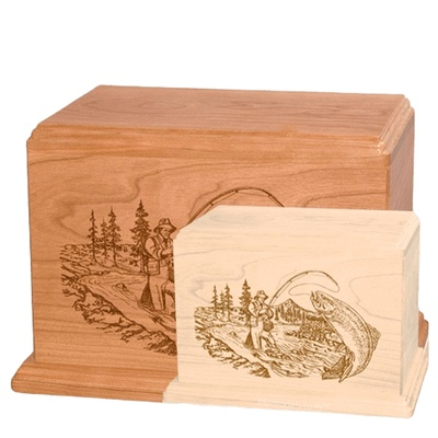 Trout Fishing Wood Urns