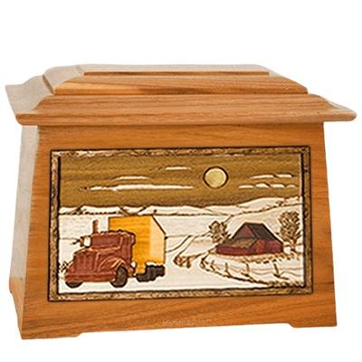 Trucker Mahogany Aristocrat Cremation Urn