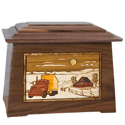 Trucker Walnut Aristocrat Cremation Urn