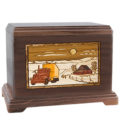 Trucker Walnut Hampton Cremation Urn