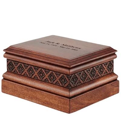 Tudor Wood Cremation Urn