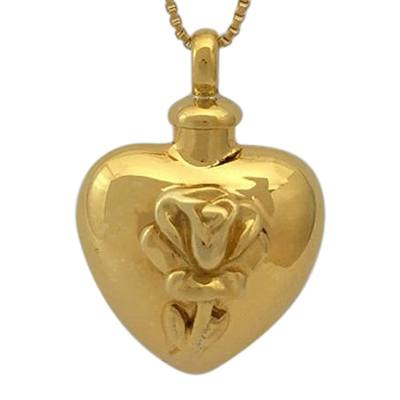 Tulip Heart Cremation Jewelry II