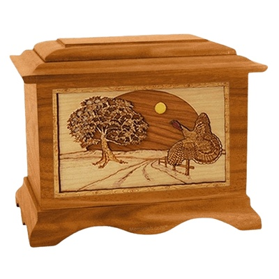 Turkey Mahogany Cremation Urn