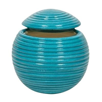 Turquoise Ceramic Keepsake Urn