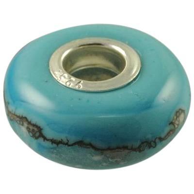 Turquoise Elegance Cremation Ash Bead