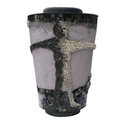 Embrace God Mosaic Cremation Urn