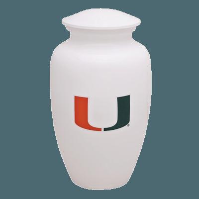 Miami Hurricanes Football Cremation Urn