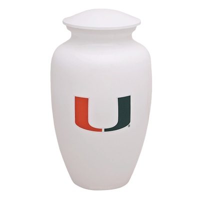 Miami Hurricanes Football Cremation Urn