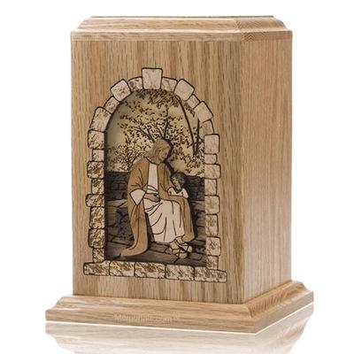 Gods Children Oak Cremation Urn
