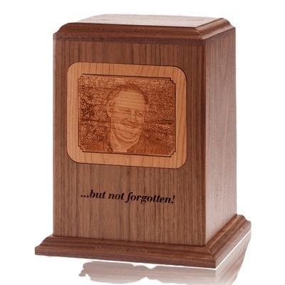 Photo Reflection Wood Cremation Urn