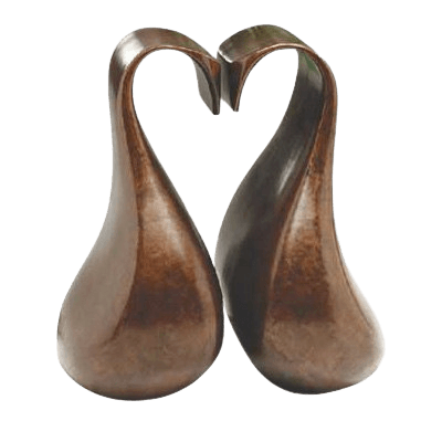 Loving Swans Companion Cremation Urn