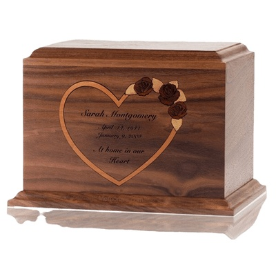 Personalized Heart Walnut Children Infant Cremation Urn