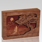 Seascape Walnut Keepsake Cremation Urn
