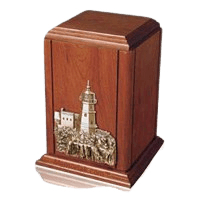 Sherwood Lighthouse Wood Cremation Urn