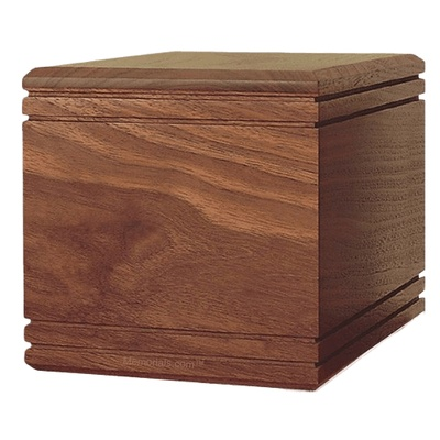 Simplicity Walnut Wood Cremation Urn