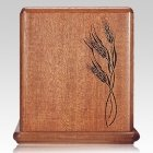 Wheat Mahogany Cremation Urn