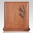 Wheat Mahogany Cremation Urn
