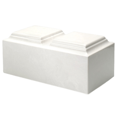 White Marble Companion Cremation Urn