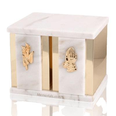 Etinity White Marble Companion Urn