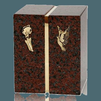 Eternitas African Red Granite Companion Urn
