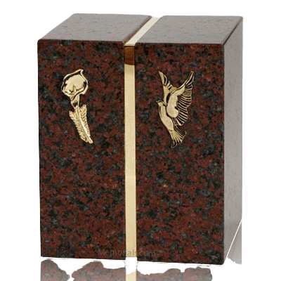 Eternitas African Red Granite Companion Urn