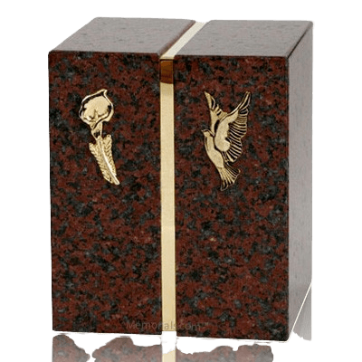 Red Marble Companion Cremation Urn