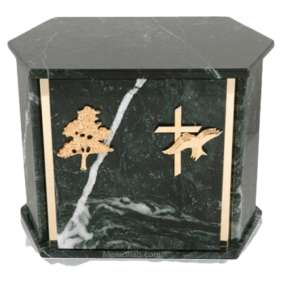 Hexagon Blue Tone Granite Companion Urn