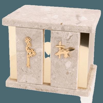 Infinita Perlato Marble Companion Urn