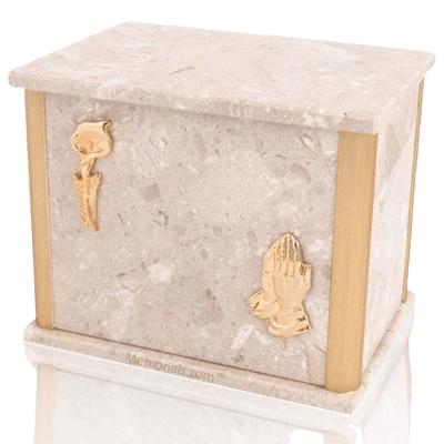 Solitude Perlato Marble Companion Urn