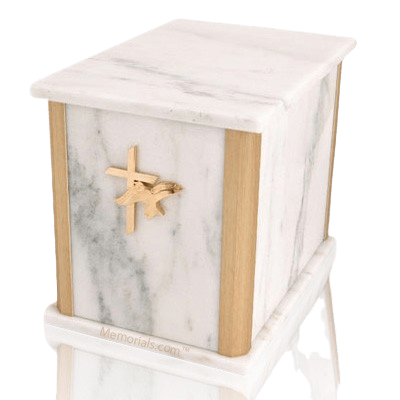 Solitude White Marble Companion Urn