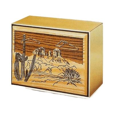 Desert Bronze Wooden Cremation Urn