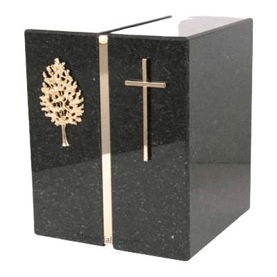 Cambrian Black Granite Companion Urns