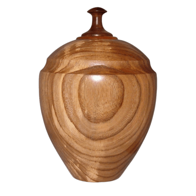 Elm Wood Cremation Urn For Two